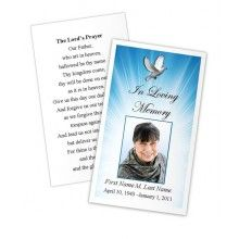 Best Memorial Cards Images On Pinterest Memorial Cards Program - Free printable funeral prayer card template