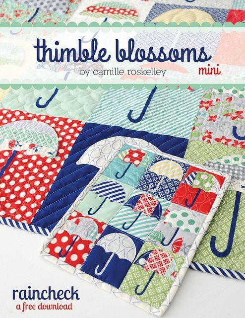 mini raincheck: Patchwork, Sewing, Free Pattern, Mini Quilts, Raincheck Mini, Minis, Thimble Blossoms, Quilt Pattern
