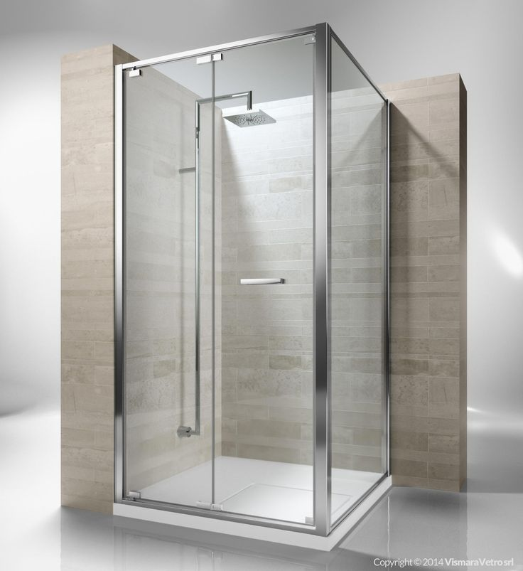 Framed shower enclosure with folding door. Reversible and extensible 4,5 cm in corner. Junior GN is incredibly versatile and suitable to solve multiple installation situations. The door can be easily released for the cleaning and maintenance of the shower unit. Shower enclosures Junior by @vismaravetro | GN+GF