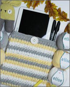 Här kommer mönstret till det virkade iPad fodralet med puffar. Jag har virkat mitt iPad fodral med Elise från Järbo och använt virknå...