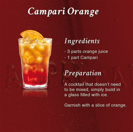 An aperitif is a pre-lunch or dinner drink that stimulates the appetite and prepares the palate for food  How to make the perfect #Campari Orange