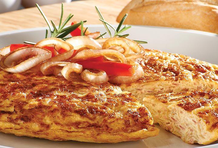 Tortilla española con atún - Recetas de atún Tuny