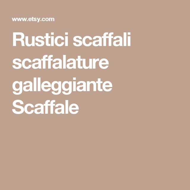 Rustici scaffali scaffalature galleggiante Scaffale