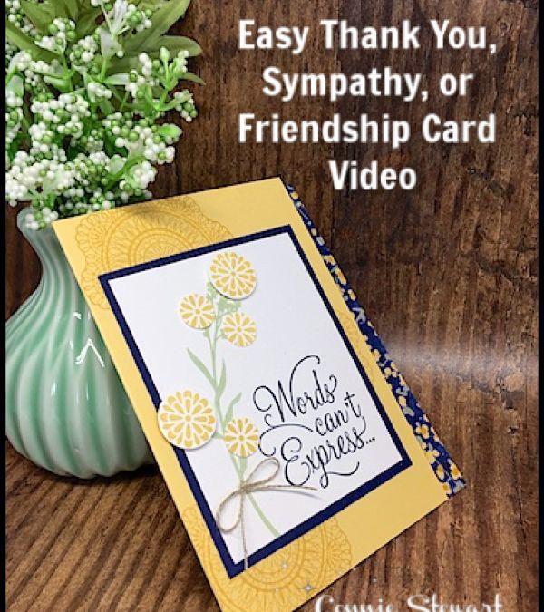 easy thank you sympathy or friendship card  creative