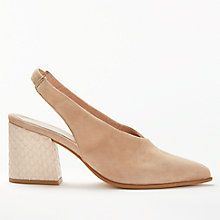 Buy Modern Rarity Carmela Slingback Court Shoes, Camel Suede Online at johnlewis.com