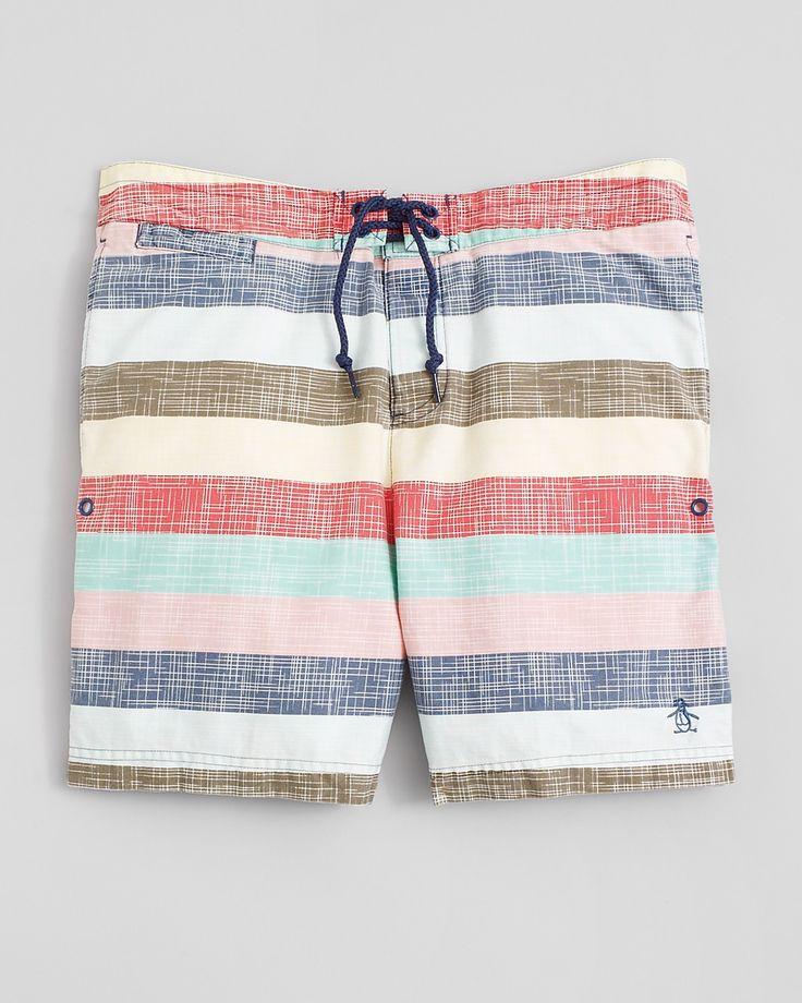 Original Penguin stripe swim shorts for summer