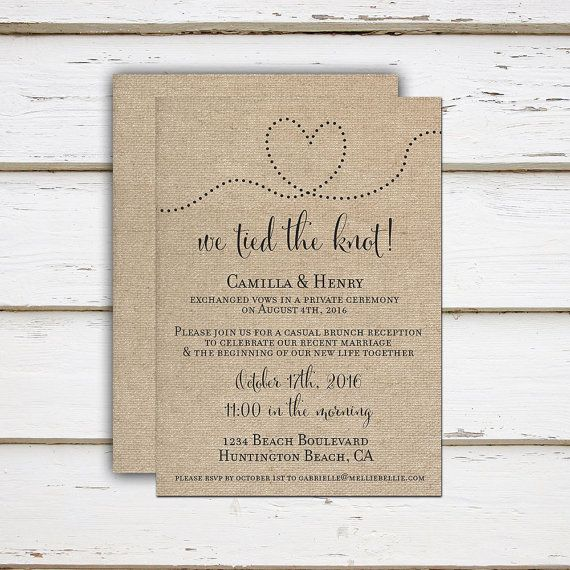 Wedding E Invitations: Printable Elopement Reception Invitation, Reception Only