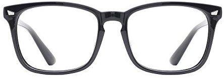 a6973d7b51 Amazon.com  TIJN Unisex Non-prescription Eyeglasses Glasses Clear Lens  Eyewear Black Square  Health   Personal Care