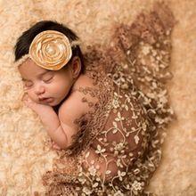 Pasgeboren Fotografie Rekwisieten Kant Baby Fotografie Dekens Pasgeboren Baby Gewikkeld Garen Kwasten Verpakt In Doek Props YY9013(China (Mainland))