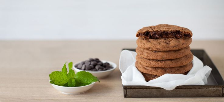 Chocolate and mint #cookies. Yum!