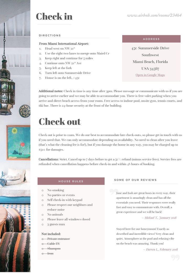 home rental kit template  u00e2 u20ac 20word doc  basic recommend