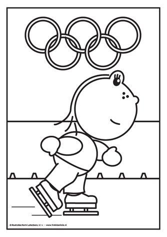 Lola doet mee aan de Olympische Spelen met schaatsen. Kijk eens hoe hard ze gaat! Zou ze goud winnen voor Nederland?