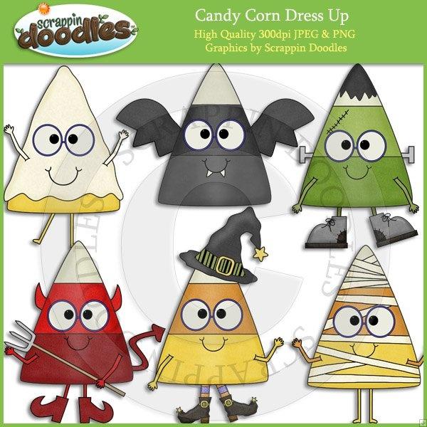 Candy Corn Dress Up Clip art, Cute clipart, Halloween