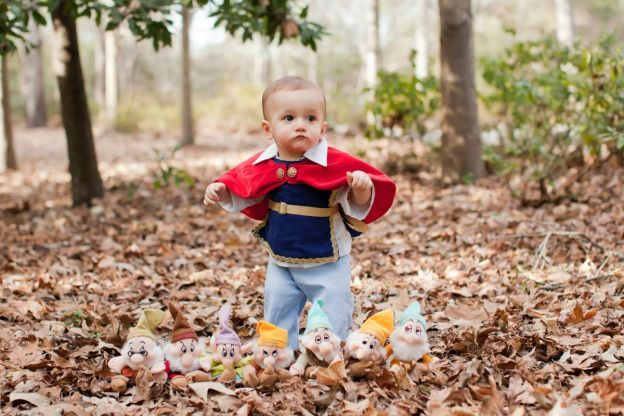 boy dressed up as the Prince from Snow White