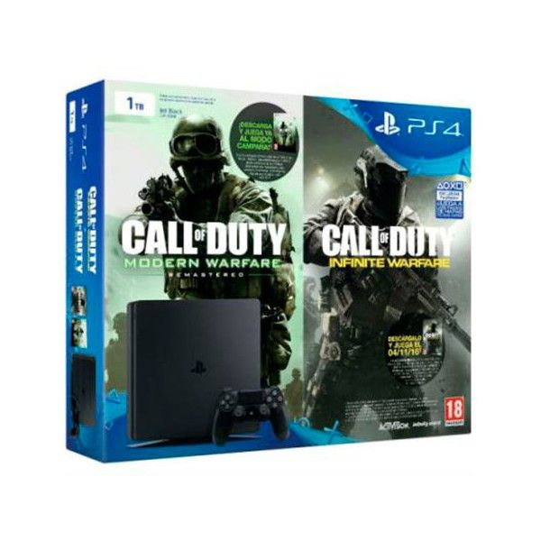 VIDEOCONSOLA SONY PLAYSTATION PS4 1TB SLIM + COD: IW + COD:MW - Inside-Pc - Inusnet.com - Inside-Pc Baza