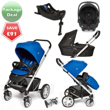 Joie Chrome Plus Package Deal Electric Blue The Joie Chrome Plus pushchair is the newest model of the popular baby pram, suitable from birth and features a reversible seat unit with recline. It's also compatible wih the Joie Gemm infant car seat to form a travel system, and the Joie carrycot to create a cosy pram for newborns. PACKAGE DEAL! http://www.kidsstore.co.uk/webshop/prams-buggies-car-seats/travel-systems/joie-travel-systems/joie-chrome-plus-package-deal-electric-blue/
