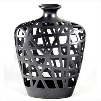 Mondo Gifts & Homewares 30.5 cm Modern Metal Look Weaved Vase