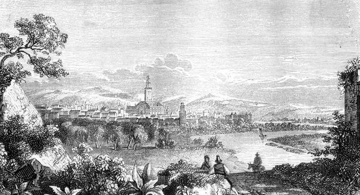 Sevilla, vista desde el norte (San Jerónimo) por un grabado del siglo XVIII. #SevillAyer