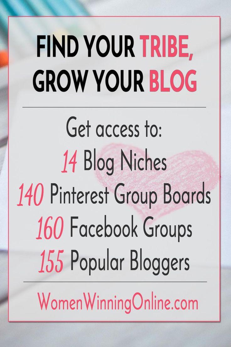 Blogging Tips   Find Your Niche   Blog Niche   Blog Success   Blogging Tools   Pinterest Group Boards   Facebook Groups   Guest Blogging
