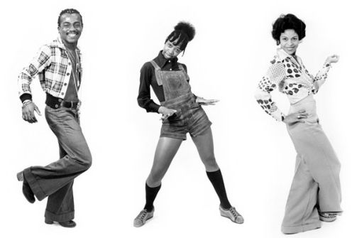 Soul Train dancers...