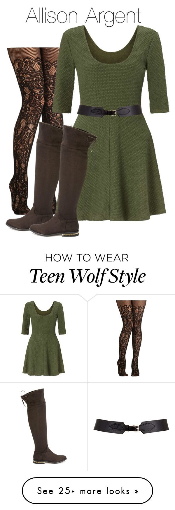 """Allison Argent - tw / teen wolf"" by shadyannon on Polyvore featuring Miss Selfridge, MICHAEL Michael Kors and Maison Boinet"