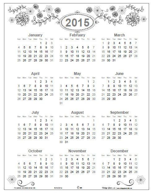 Best Calendarios Images On   Calendar Life Planner