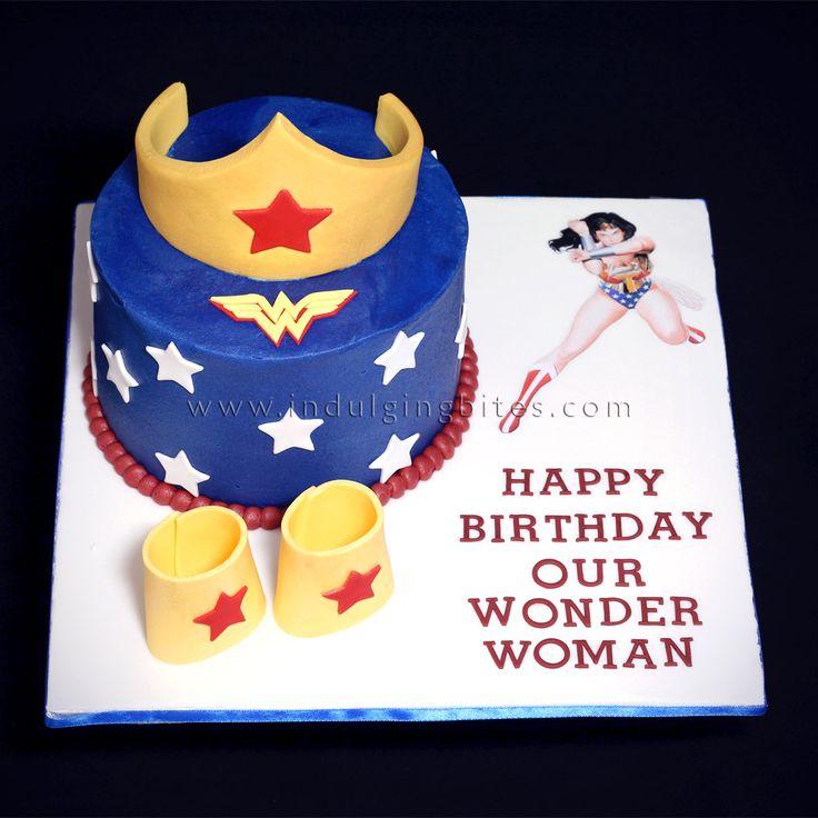 Wonder Woman Themed Celebration Cake for Mom's Birthday