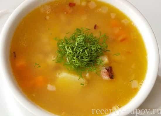 вкусный гороховый суп с курицей фото