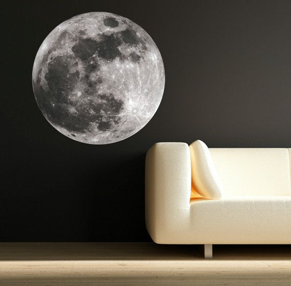 Wall Decals Moon Astronomy Space Universe World Wall sticker Kids Bedroom Decal Mural Wall Art Stickers WSD53
