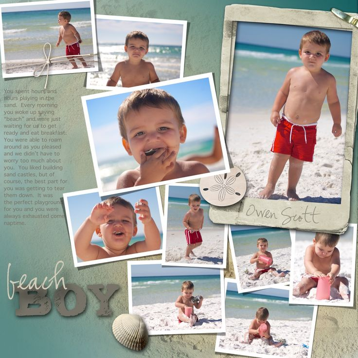 digital scrapbooking layouts for boys - Google Search