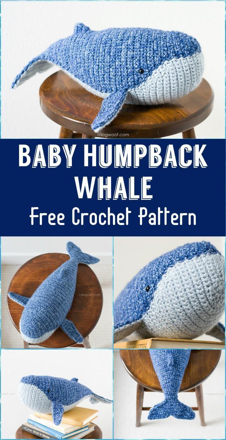Crochet Baby Humpback Whale Amigurumi Free Pattern - #Amigurumi ... | 1400x720