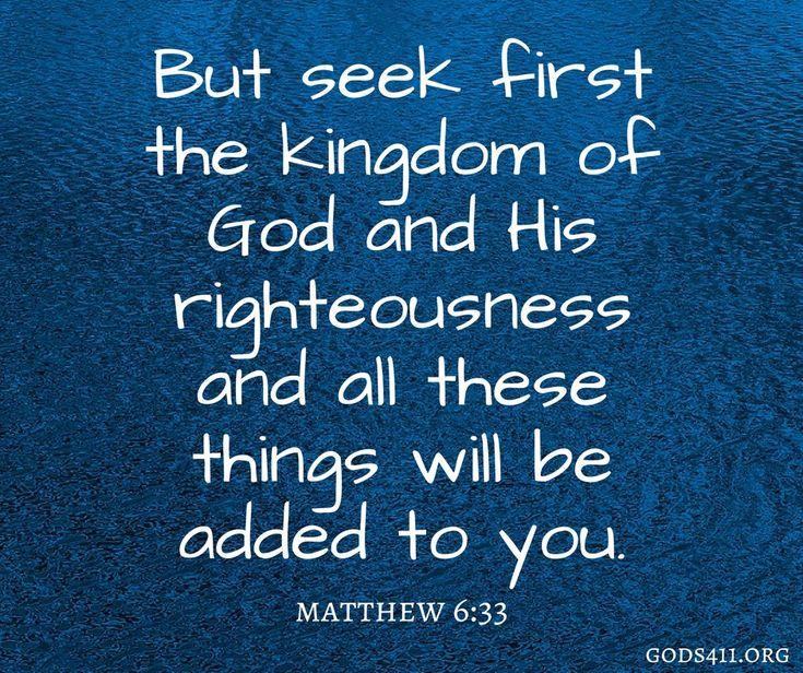Matthew 6:33 | Bible Verses