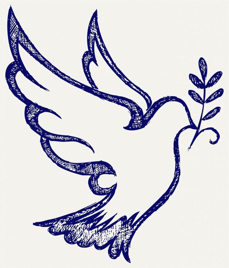 colomba stilizzata per biglietti di invito Cresima