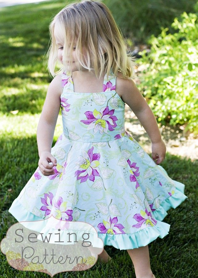 The Twirly Dress Size 1 to 7 Sewing EPattern by sewsweetpatterns