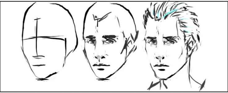 Line Drawing Human Face : Best images about how to draw a male and female face on