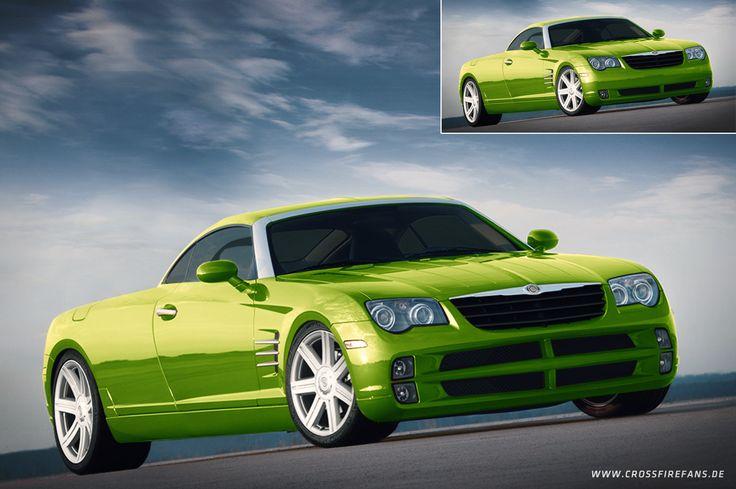 Update Chrysler Crossfire Pickup. 4 wheels seem to be better than 6. ;) #crossfirefans #chryslercrossfireforum #chryslercrossfire #pickup #green #chrysler #crossfire #custom