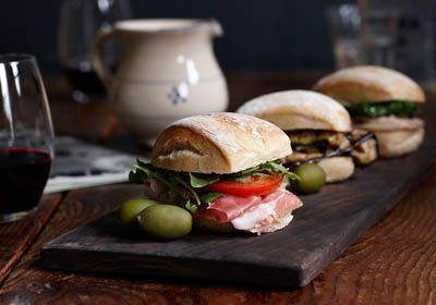Prosciutto sliders - um yes! Shot by Jim Norton