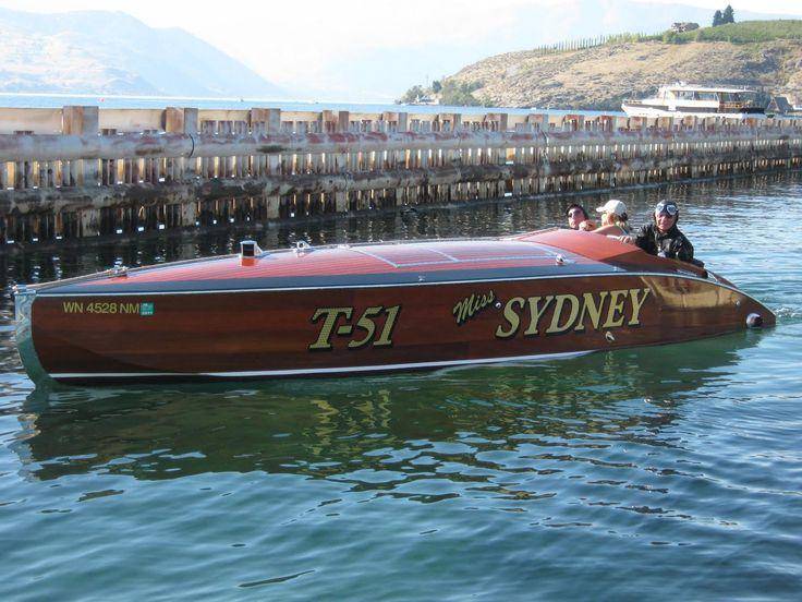 Vintage Wood Boat Miss Sydney