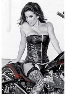 Faux Leather Stud And Spike Corset outter wear NOBODY Does Sexy lady biker like www.SouthernLeathers.com