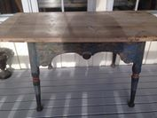 Old table - original painting.