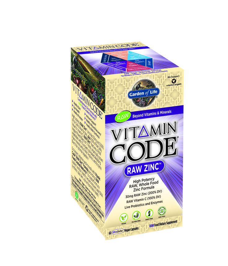 Garden Of Life Vitamin Code Raw Zinc, 60 Ct