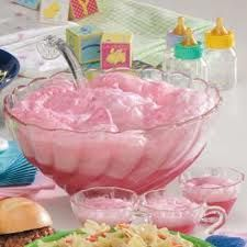 Shower Idea! Rock-A-Bye Baby Punch Recipe - 3 quarts raspberry sherbet, softened