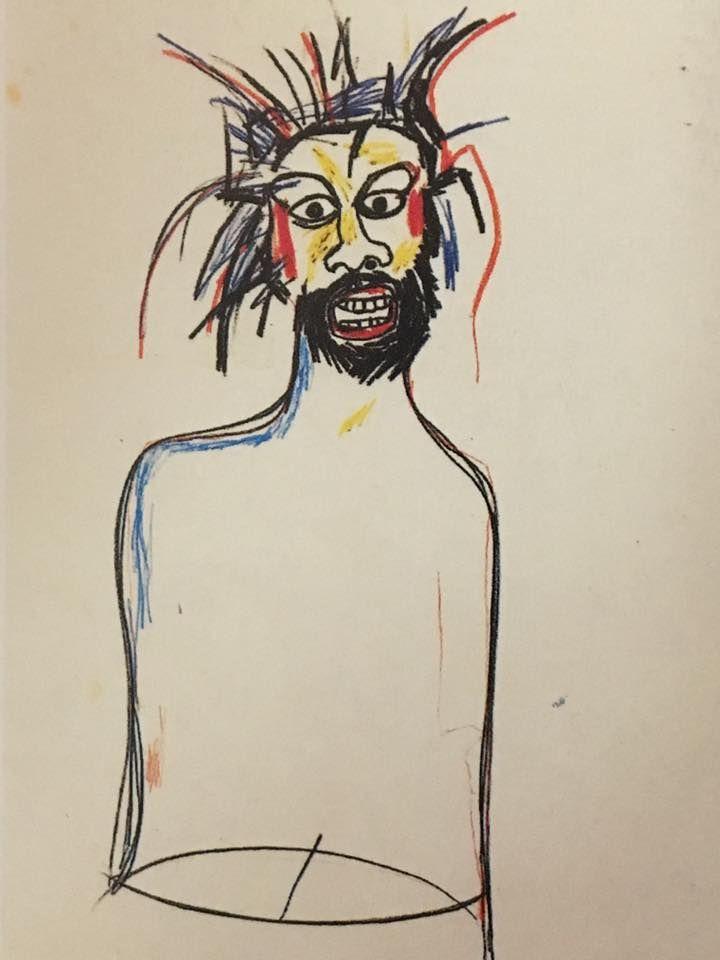"JEAN-MICHEL BASQUIAT, ""Untitled (Self-Portrait),"" 1984; oilstick and paintstick on paper; 30 by 22 1/2 in."