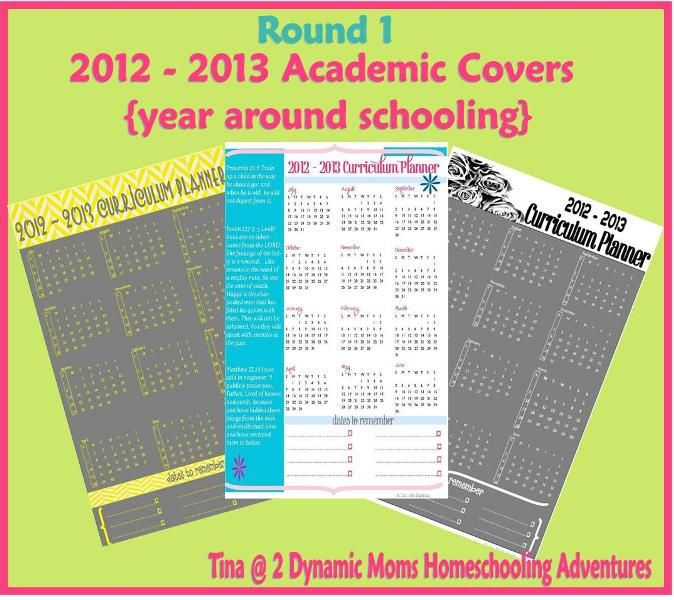 2012 2013 New Curriculum Planner Covers + {academic year printables}  Round 1.