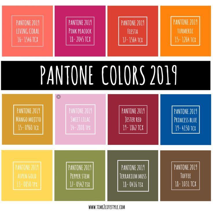 Time2lifestyle Pantone Farben 2019 Mood Board Board