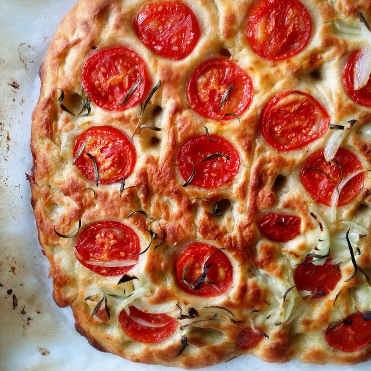 Roasted Campari Tomatoes and Sweet Vidalia Onion Focaccia