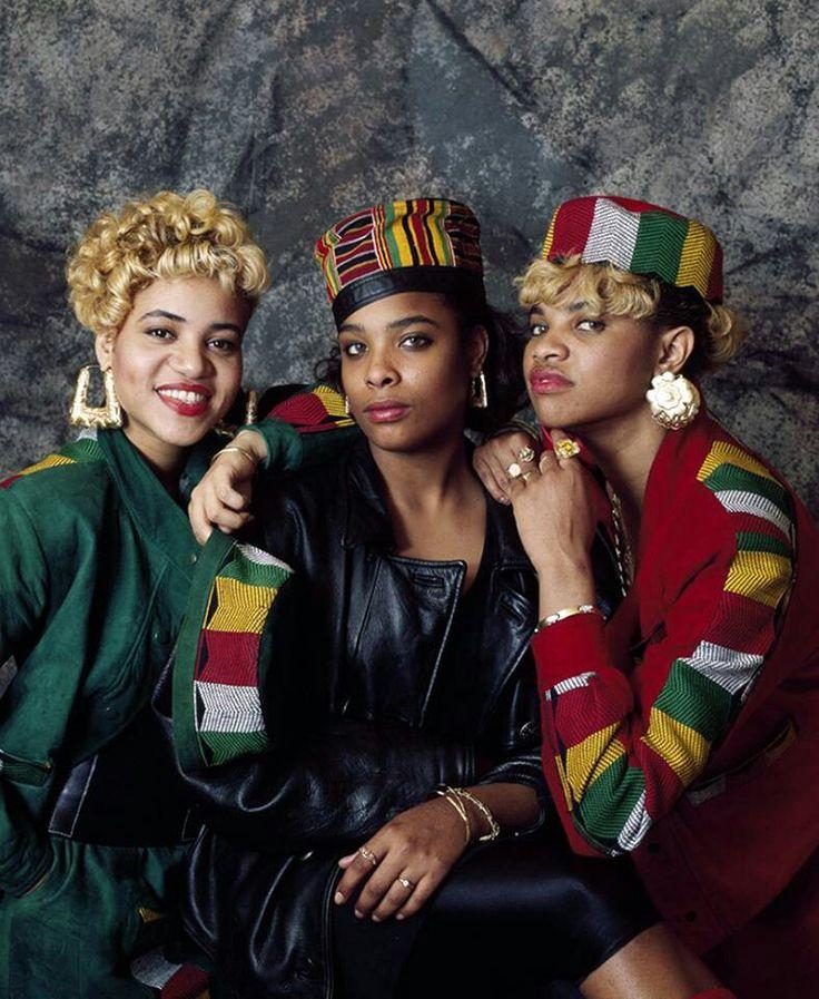 Salt n Pepa DJ Spinderella  My Dad use to sell those hats!! Loved them last era of Black Pride.