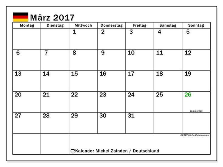 Für März, drucken Sie eine kostenlose Kalender. Universal-Kalender mit Feiertagen oder verfügbaren Kalender für mehrere Länder.