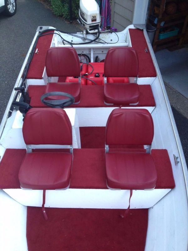 15ft Aluminum boat Grumman Johnson 30hp center console #center #console #johnson #grumman #boat #aluminum