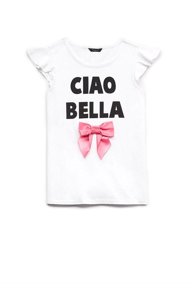 camiseta ciao bella ni a camisetas 2000073002 forever 21 eu kids pinterest. Black Bedroom Furniture Sets. Home Design Ideas